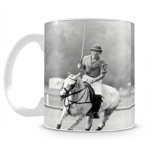 Prince Charles in action on the polo field Mug - Canvas Art Rocks - 2