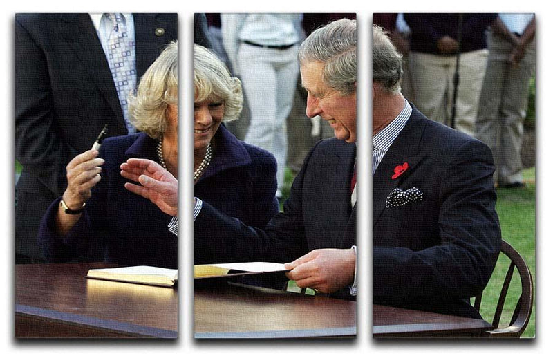 Prince Charles with Camilla in Washington DC 3 Split Panel Canvas Print - Canvas Art Rocks - 1