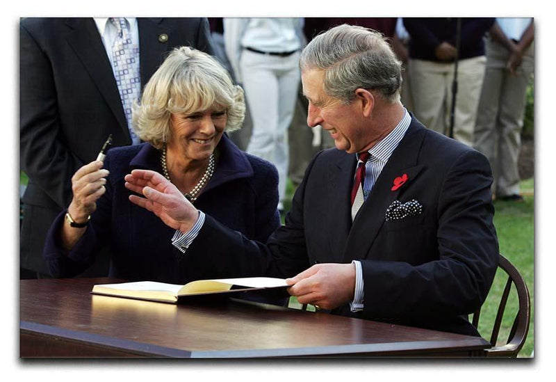 Prince Charles with Camilla in Washington DC Canvas Print or Poster  - Canvas Art Rocks - 1