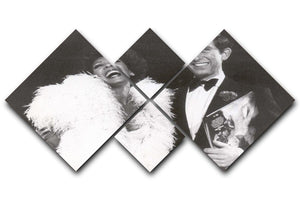 Prince Charles with Shirley Bassey 4 Square Multi Panel Canvas  - Canvas Art Rocks - 1
