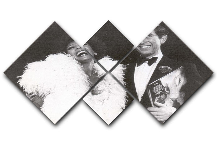 Prince Charles with Shirley Bassey 4 Square Multi Panel Canvas