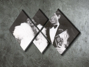 Prince Charles with Shirley Bassey 4 Square Multi Panel Canvas - Canvas Art Rocks - 2
