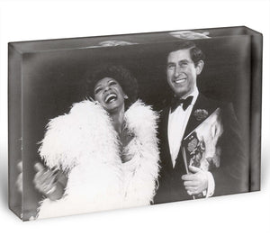 Prince Charles with Shirley Bassey Acrylic Block - Canvas Art Rocks - 1