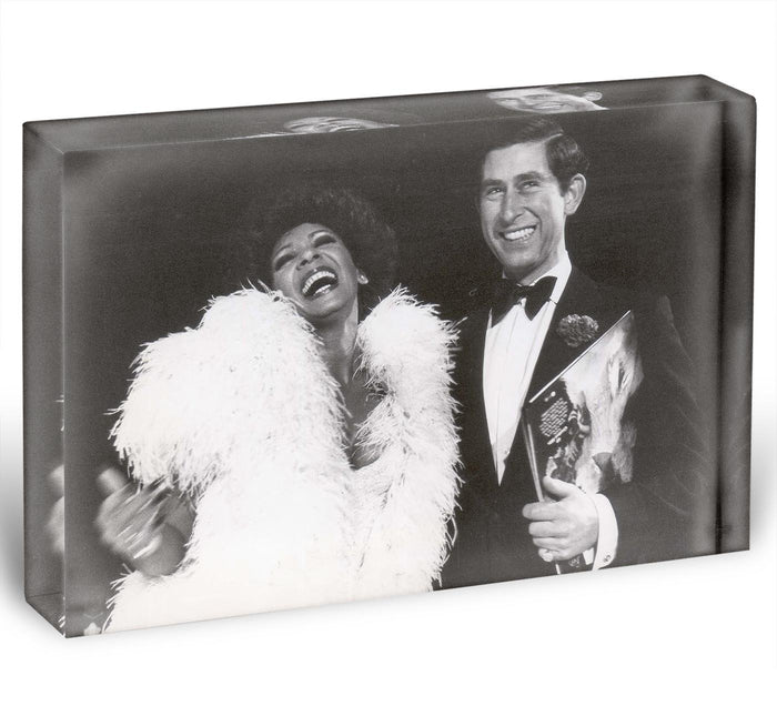 Prince Charles with Shirley Bassey Acrylic Block