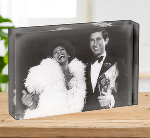 Prince Charles with Shirley Bassey Acrylic Block - Canvas Art Rocks - 2