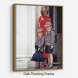 Prince Harry and Prince William at Wetherby School Floating Frame Canvas