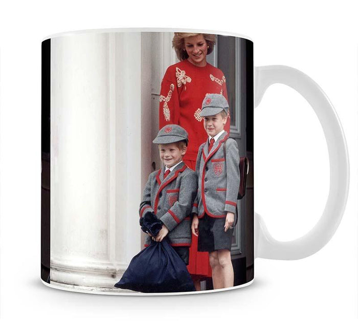 Prince Harry and Prince William at Wetherby School Mug