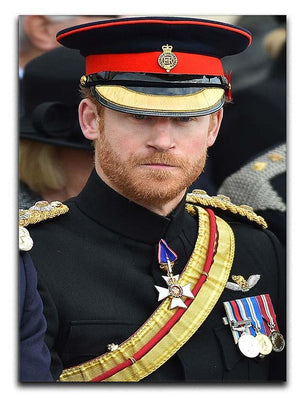 Prince Harry in uniform during ceremonies in Staffordshire Canvas Print or Poster  - Canvas Art Rocks - 1