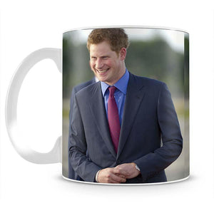 Prince Harry on a royal visit to Belize Mug - Canvas Art Rocks - 2