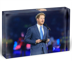 Prince Harry opening the Rugby World Cup 2015 Acrylic Block - Canvas Art Rocks - 1