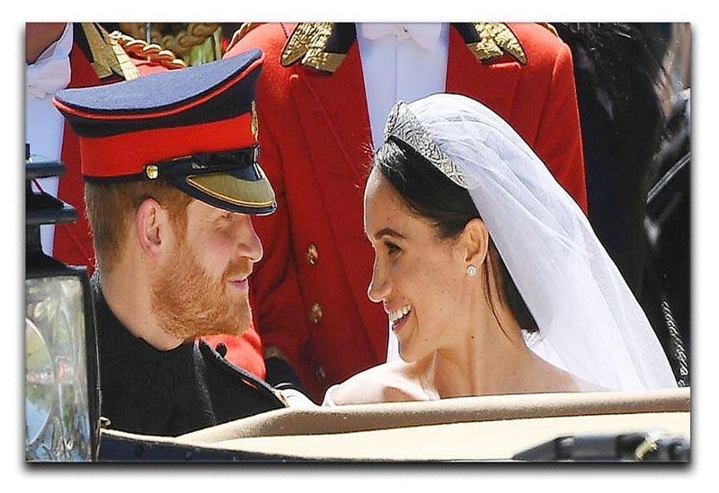 Prince Harry smiles at his new wife Meghan Canvas Print or Poster  - Canvas Art Rocks - 1