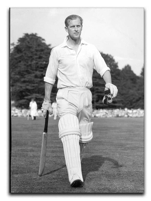 Prince Philip as cricket captain in a charity match Canvas Print or Poster  - Canvas Art Rocks - 1