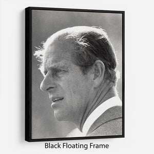Prince Philip at Burghley Horse Trials Floating Frame Canvas