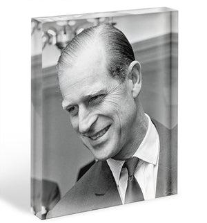 Prince Philip at Imperial House London Acrylic Block - Canvas Art Rocks - 1