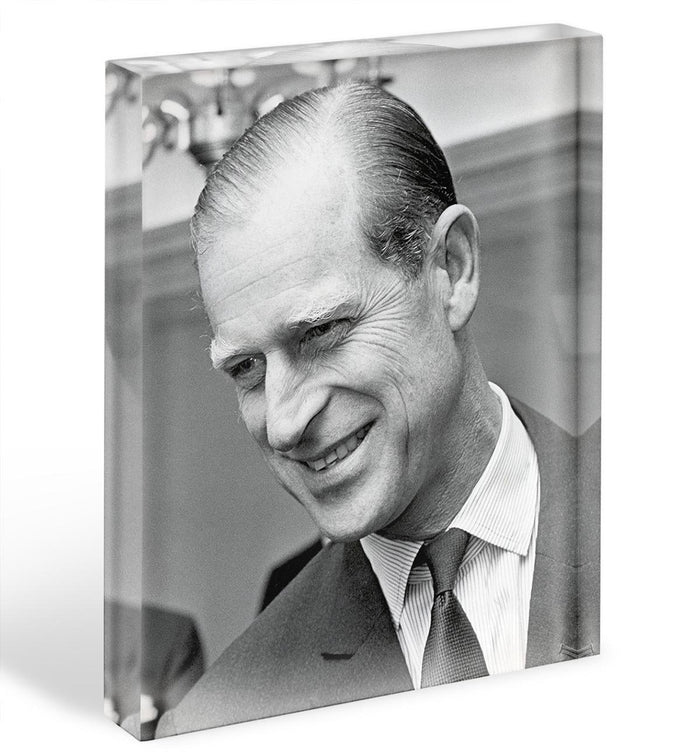 Prince Philip at Imperial House London Acrylic Block