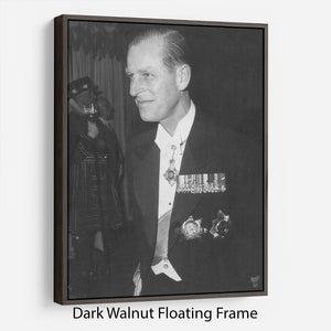 Prince Philip attending the opera at Covent Garden Floating Frame Canvas