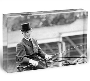 Prince Philip driving a carriage during a race at Ascot Acrylic Block - Canvas Art Rocks - 1