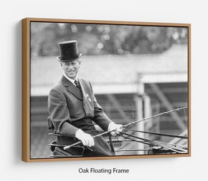 Prince Philip driving a carriage during a race at Ascot Floating Frame Canvas