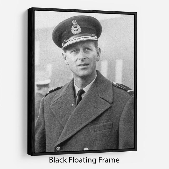 Prince Philip in Grimsby Floating Frame Canvas