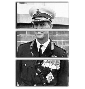 Prince Philip in Royal Marines uniform 3 Split Panel Canvas Print - Canvas Art Rocks - 1