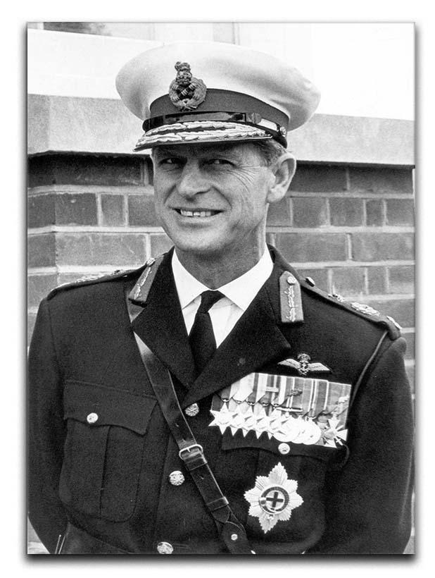 Prince Philip in Royal Marines uniform Canvas Print or Poster  - Canvas Art Rocks - 1