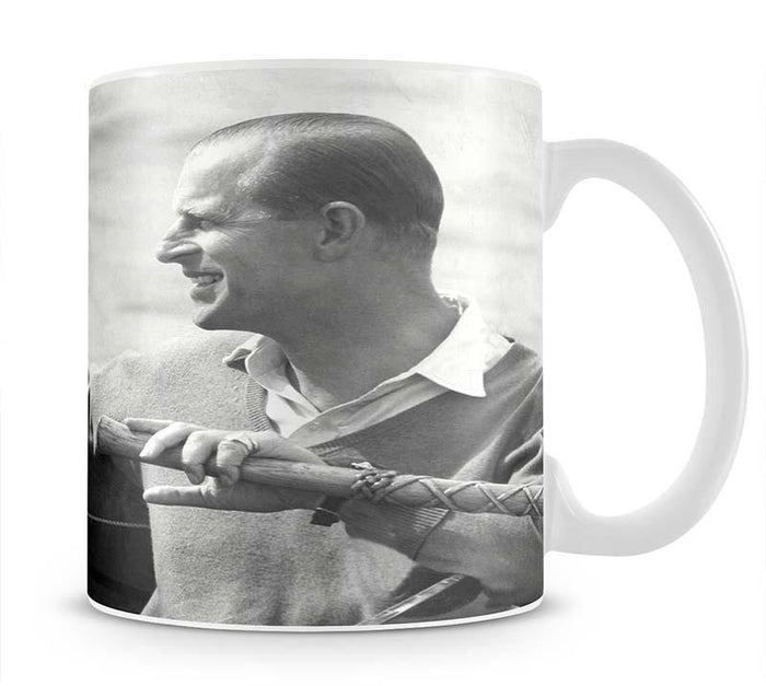 Prince Philip in a sailing race at Cowes Isle of Wight Mug