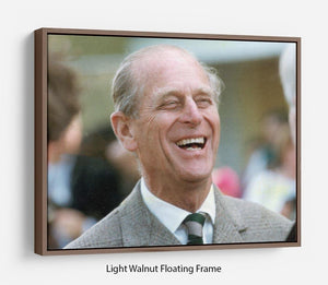 Prince Philip laughing at the Royal Windsor Horse Show Floating Frame Canvas