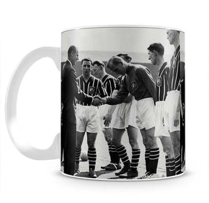 Prince Philip meeting members of Manchester City team Mug - Canvas Art Rocks - 2