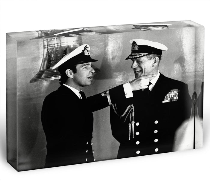 Prince Philip with Prince Edward at Falklands homecoming Acrylic Block