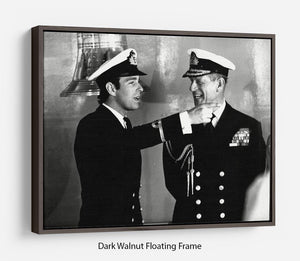 Prince Philip with Prince Edward at Falklands homecoming Floating Frame Canvas