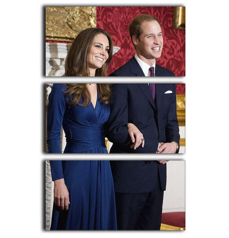 Prince William and Kate announcing their engagement 3 Split Panel Canvas Print - Canvas Art Rocks - 1