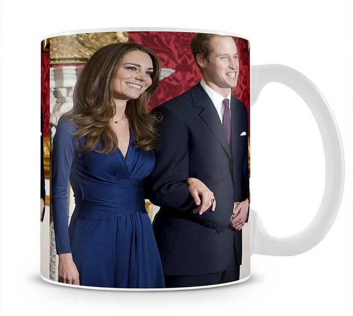 Prince William and Kate announcing their engagement Mug