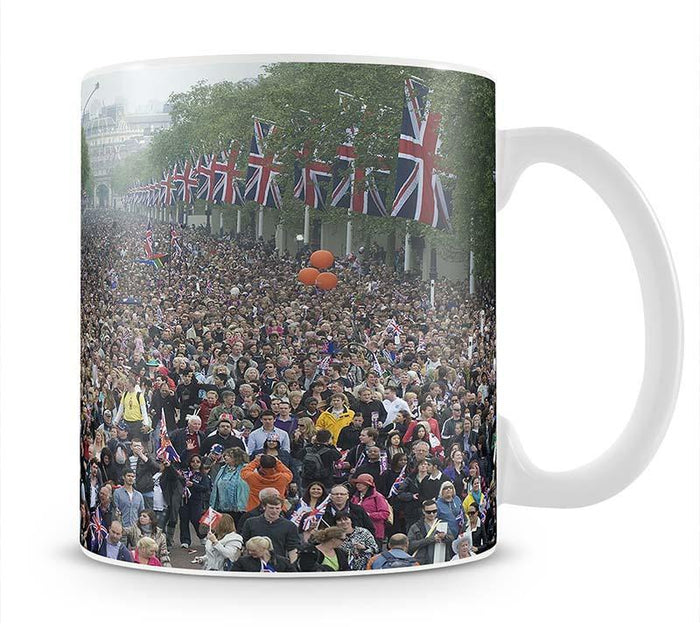 Prince William and Kate crowds for their wedding on The Mall Mug