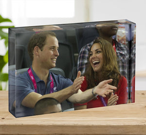 Prince William and Kate watching cycling at the 2012 Olympics Acrylic Block - Canvas Art Rocks - 2