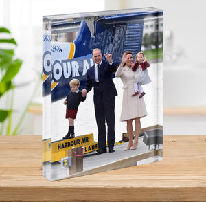 Prince William and Kate with George and Charlotte in Canada Acrylic Block - Canvas Art Rocks - 2