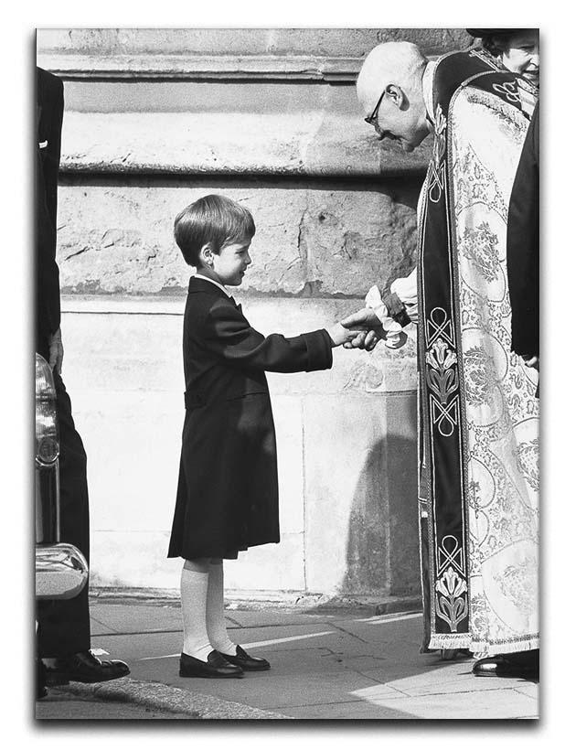 Prince William greeting the Dean of St Georges Chapel Canvas Print or Poster  - Canvas Art Rocks - 1