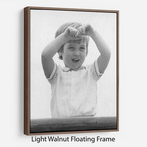 Prince William happily aboard the Royal Yacht Floating Frame Canvas
