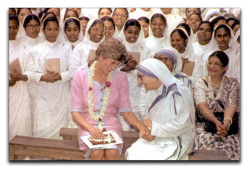 Princes Diana with Mother Theresa in Calcutta India Canvas Print or Poster  - Canvas Art Rocks - 1