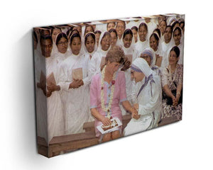 Princes Diana with Mother Theresa in Calcutta India Canvas Print or Poster - Canvas Art Rocks - 3