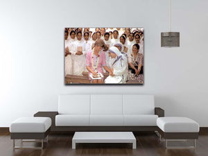 Princes Diana with Mother Theresa in Calcutta India Canvas Print or Poster - Canvas Art Rocks - 4