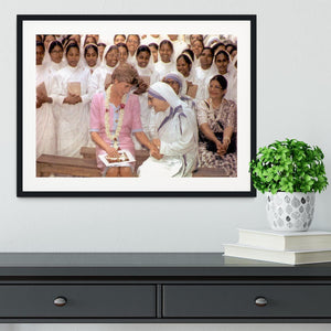 Princes Diana with Mother Theresa in Calcutta India Framed Print - Canvas Art Rocks - 1