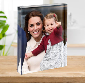Princess Charlotte held by her mother Kate Acrylic Block - Canvas Art Rocks - 2
