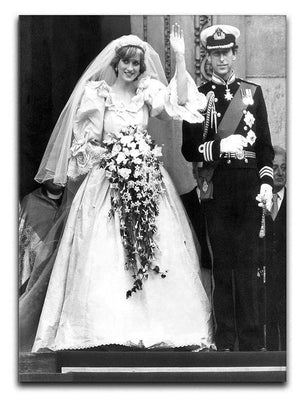 Princess Diana and Prince Charles at their wedding St Pauls Canvas Print or Poster  - Canvas Art Rocks - 1