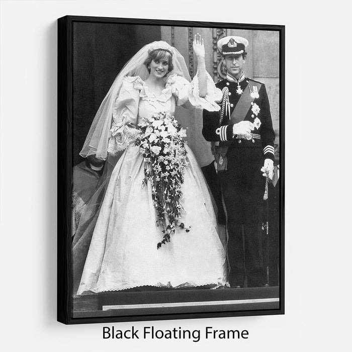 Princess Diana and Prince Charles at their wedding St Pauls Floating Frame Canvas