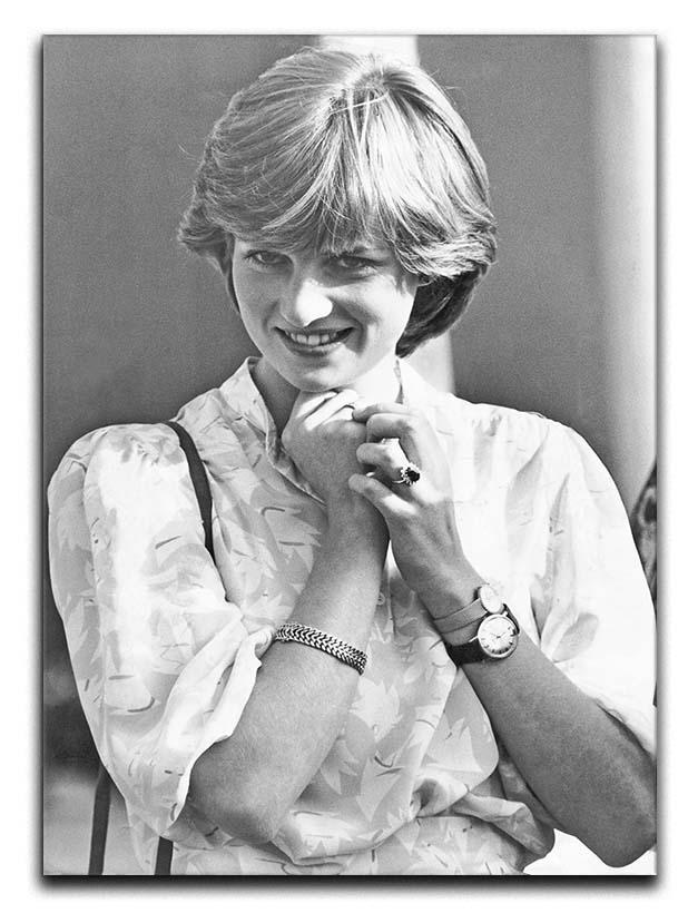 Princess Diana applauding Prince Charles playing polo Canvas Print or Poster  - Canvas Art Rocks - 1