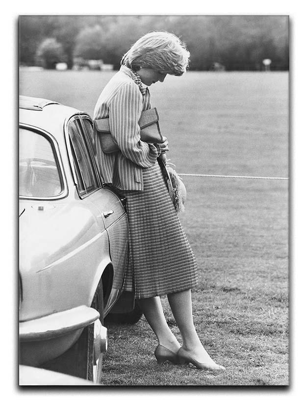 Princess Diana at a polo match Canvas Print or Poster  - Canvas Art Rocks - 1