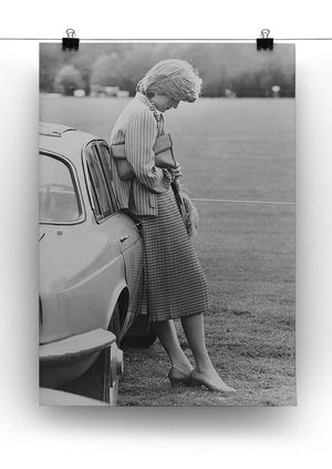 Princess Diana at a polo match Canvas Print or Poster - Canvas Art Rocks - 2