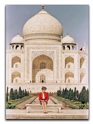 Princess Diana at the Taj Mahal in India Canvas Print or Poster  - Canvas Art Rocks - 1