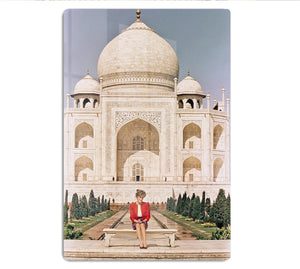 Princess Diana at the Taj Mahal in India HD Metal Print