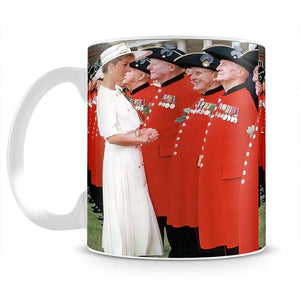 Princess Diana meeting pensioners at Royal Hospital Chelsea Mug - Canvas Art Rocks - 2